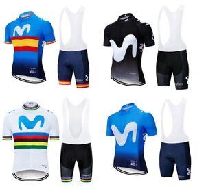 TEAM MOVISTAR  Cycling  jersey bib bike shorts