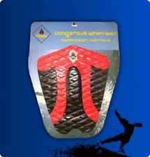 New Surfboard Tailpad / Tail pad / Deck grip / Traction pad Black / Red