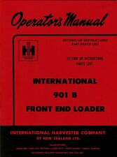 IHC 901B Front End Loader operators manual