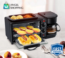 Multifunction 3 in1 Breakfast Machine Toaster Oven Electric Pan Coffee Kitchen