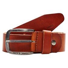 Jack & Jones Jjipaul Jjleather Belt Noos Cintura Uomo Marrone (mocha Bisque)