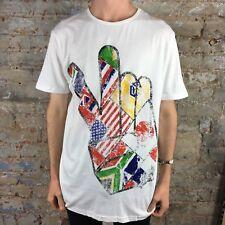 Billabong New World Organic Cotton Fit Short Sleeve T-Shirt in White Size L