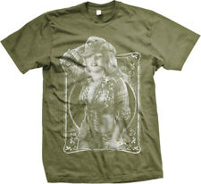 Marilyn Cowgirl Pin-Up Farmer Farm Girl Country Redneck  Mens T-shirt