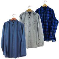 NEW MENS PLUS SIZE LOWES BUSINESS DRESS SHIRT SIZE 4XL,5XL,6XL,7XL,8XL