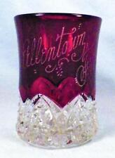 Allentown Fair 1916 Tumbler Ruby Stained Button Arches Duncan Miller LMS