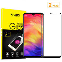 2X KS For Xiaomi Redmi Note 7 Full Cover Tempered Glass Screen Protector -Black