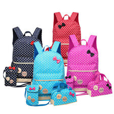 3 Pcs Waterproof Girl School Bags For Teenagers Backpack Shoulder 4 Colours UK