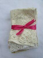 Lot 5 Vintage Doilies Doily Crochet  Crocheted Cotton 30399 Ecru Ivory Lace