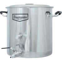 8.5 Gallon Brewmaster Stainless Kettle w/ 2 Ports Ball Valve Plug Included