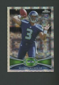 2012 Topps Chrome XFractor Russell Wilson Seattle Seahawks RC Rookie