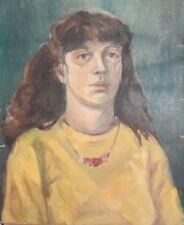 Impressionism Lady Portrait Vintage Oil Painting