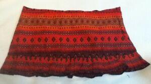 """15 3/4"""" Length Lightweight Burnt Orange Short Mini Skirt UK Plus Size 22 - 24"""