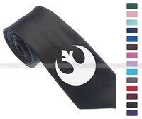 "Star Wars Rebel Alliance Symbol Skinny Slim Men Woven Silk 2.5"" Tie Necktie K30"