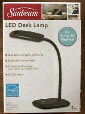 NEW SUNBEAM BLACK FLEXIBLE NECK LED DESK LAMP ADJUSTABLE LIGHT ENERGY STAR
