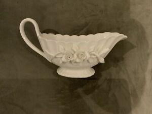 Grace's Teaware Floral Gravy Boat - Creamy White Color