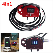 4in1 Motorcycle Handlebar Control ON-OFF Switch USB Charger w/ Voltage Displayer