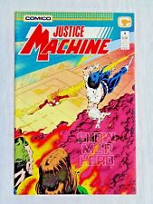 Justice League No. 4 April 1987 Comico The Comic Co. First Printing NM (9.4)