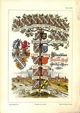 2°Ströhl Heraldischer Atlas héraldique blasons arbre généalogique Barons  1899