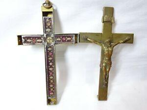 ✝ Reliquary Relic True Cross St. Ursula St. Sebastian St. Bernardine St. Crispin