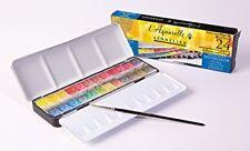 Sennelier - Watercolour Metal Tin Of 24 Half Pans Classic Set