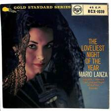"Mario Lanza - The Loveliest Night Of The Year - 7"" Record Single"