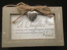 "Cottage Garden Locking Photo Frame Music Box You Light Up My Life 6""x4""x2.5"""