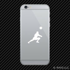 (2x) Womens Volleyball Cell Phone Sticker Mobile Girl Dig Silouette many colors
