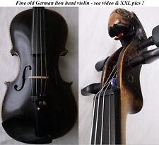 FINE OLD GERMAN LIONHEAD VIOLIN - video - ANTIQUE バイオリン скрипка 940