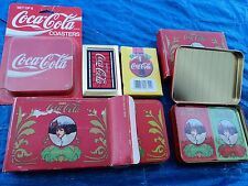 Coca Cola Collectible Playing Cards (6 Decks) and set of 6 Coasters