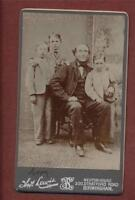 Birmingham. Lewis.  Stratford Road. Father  & Boys  CDV  photograph qa.786