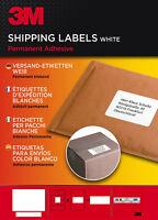3M Etiketten Versandetiketten Weiß Permanent klebend Selbstklebend 100 Blatt