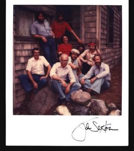 SIGNED JOHN SEXTON & ANSEL ADAMS SX-70 PHOTO WORKSHOP GROUP ASSISTANTS 1980