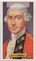 Lord Amherst British Army Canada War France  Montreal 80+ Y/O Trade Ad Card