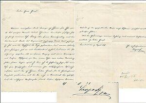 1866 ERZHERZOG LEOPOLD II. GROSSHERZOG von TOSCANA - eigenhändiger Brief m.U.