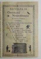 Raccolta di canzoni napoletane e siciliane Napoli 1900