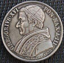 ITALIE VATICAN SCUDO 1833 ROME ARGENT