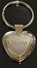personnalisé forme coeur Porte-clés fob GRATUIT gravure love cadeau message NEUF