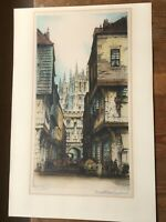Canterbury Cathedral - Edward Sharland (1884-1967) - Antique Colour Etching