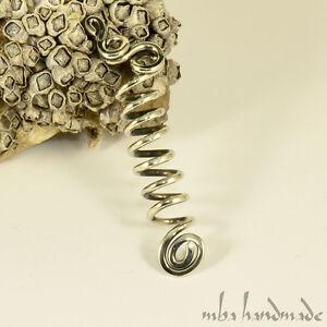 Spiral German Silver Viking Hair Beads Beard Jewelry Dreadlock Hair Accessory