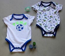 Set of 2 PUMA Sport Baby Boy Bodysuits - SIZE 3-6 MONTHS *NEW*
