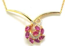 14K GOLD, DIAMOND, AND RUBY NECKLACE