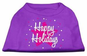 Scribble Happy Holidays Screenprint Dog Cat Pet Puppy Christmas Shirt