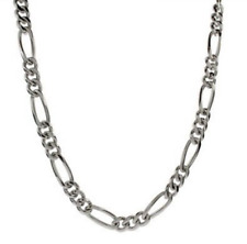 "Men's 24"" Inch Stainless Steel Figaro Chain Link 5.5mm Necklace C7"