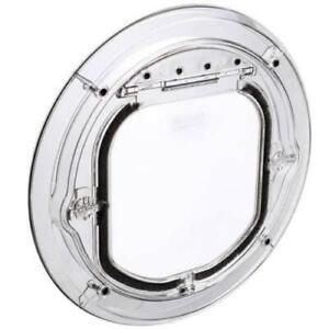 Clear Cat Flap -  Transparent Authentic Pet Tek G-SDDC Maxi Dual Glaze Clear Pet