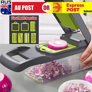 7IN1 A Food Slicer Dicer Nicer Container Chopper Peeler Vegetable Fruit Cutter H