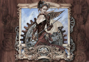 VLIES Fototapete-ALCHEMY GOTHIC-(10847)-Schädel Hexen Drachen Dioscuri Lilithia