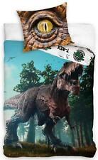 Dinosaurier Bettwäsche-Set 135x200 Baumwolle Jurassic World T-Rex Dino Bettbezug