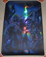 THE AVENGERS AGE OF ULTRON Assemble FOIL comic movie poster print Dan Mumford
