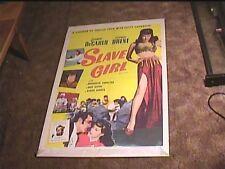 SLAVE GIRL 1956 ORIG MOVIE POSTER YVONNE DECARLO SEXY BELLY DANCER HAREM GIRL