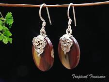 Australian Mookaite & 925 SOLID Silver Earrings #131785